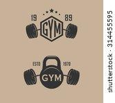 set of fitness sport club... | Shutterstock .eps vector #314455595