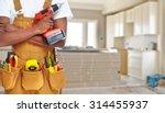 builder handyman with... | Shutterstock . vector #314455937