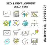 seo and development colored...