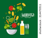 vegetarian menu design  vector...   Shutterstock .eps vector #314470511