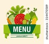 vegetarian menu design  vector... | Shutterstock .eps vector #314470589