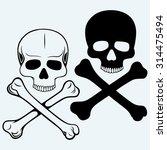 skull and crossbones. isolated... | Shutterstock .eps vector #314475494