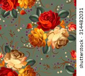 Floral Textile Seamless Patter...