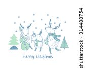 cute merry christmas card with... | Shutterstock .eps vector #314488754