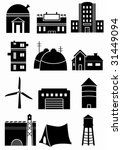 generic structure icons   set...