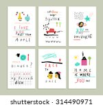 collection of cute funny... | Shutterstock .eps vector #314490971