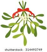 vector mistletoe vector art graphics freevector com rh freevector com mistletoe vector black and white christmas mistletoe vector