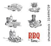 vector set of barbecue and... | Shutterstock .eps vector #314494739