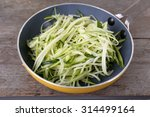 grated zucchini and squash in... | Shutterstock . vector #314499164