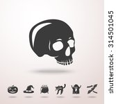 skull icon with shadow and set... | Shutterstock .eps vector #314501045