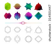set minimalist abstract... | Shutterstock .eps vector #314501447