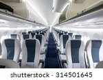 commercial aircraft cabin with... | Shutterstock . vector #314501645