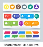 set of flat icons for social... | Shutterstock .eps vector #314501795