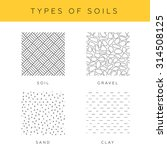 Types Of Soils  Vector Set....