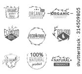 set of vintage organic labels ... | Shutterstock .eps vector #314509805