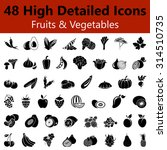 set of high detailed fruits and ... | Shutterstock .eps vector #314510735