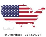 Map Of Usa With An Official...
