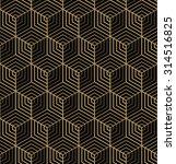 seamless art deco hexagonal...   Shutterstock .eps vector #314516825