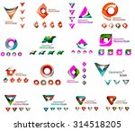set of various geometric icons  ... | Shutterstock . vector #314518205