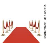 red carpet with red ropes on... | Shutterstock . vector #314520515