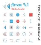 vector arrow icons set flat...