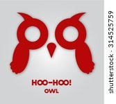 simple red owl icon on grey... | Shutterstock .eps vector #314525759