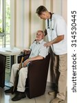 elderly man receiving a checkup ...   Shutterstock . vector #314530445