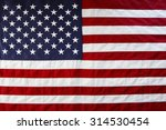 Closeup Of American Flag Stars...