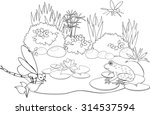 coloring pond   Shutterstock . vector #314537594