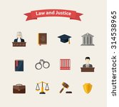 law and justice icons set with... | Shutterstock .eps vector #314538965