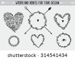 hand drawn vintage floral and...   Shutterstock .eps vector #314541434