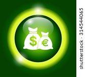 money bag icon. vector...