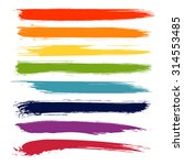 vector set of colorful brush... | Shutterstock .eps vector #314553485