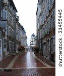 empty narrow street of old...   Shutterstock . vector #31455445