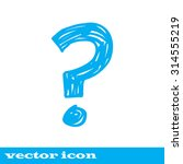 question mark icon ask sign | Shutterstock .eps vector #314555219