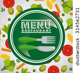 vegetarian menu design  vector... | Shutterstock .eps vector #314562731