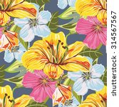 vector seamless flower pattern. ... | Shutterstock .eps vector #314567567