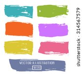 set of brushes colored ink... | Shutterstock .eps vector #314567579
