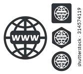 global network icon set ...