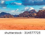 wadi rum in southern jordan. it ... | Shutterstock . vector #314577725