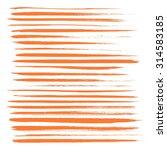 big set of long texture of dry... | Shutterstock .eps vector #314583185