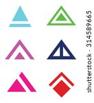 abstract vector triangle and...