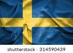 sweden flag. illustration | Shutterstock . vector #314590439