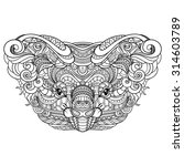 tribal decorative koala's head. ... | Shutterstock . vector #314603789