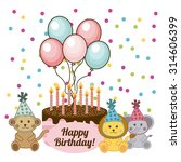 birthday invitation design ... | Shutterstock .eps vector #314606399