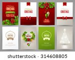 set of christmas brochures... | Shutterstock .eps vector #314608805