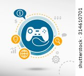 joystick icon and creative...