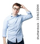 crazy young man thinking | Shutterstock . vector #314613044