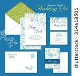 vector kimono floral wedding... | Shutterstock .eps vector #314618501