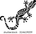 Gecko With Ethnic Pattern